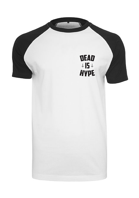 Dead is Hype Raglan Tee - White&Black