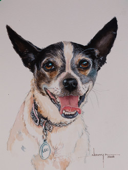 Lexi watercolor painting of dog