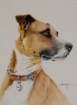 Henry Pottimus watercolor portrait
