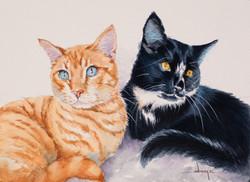 Watercolor portrait of Lexy & Siggy