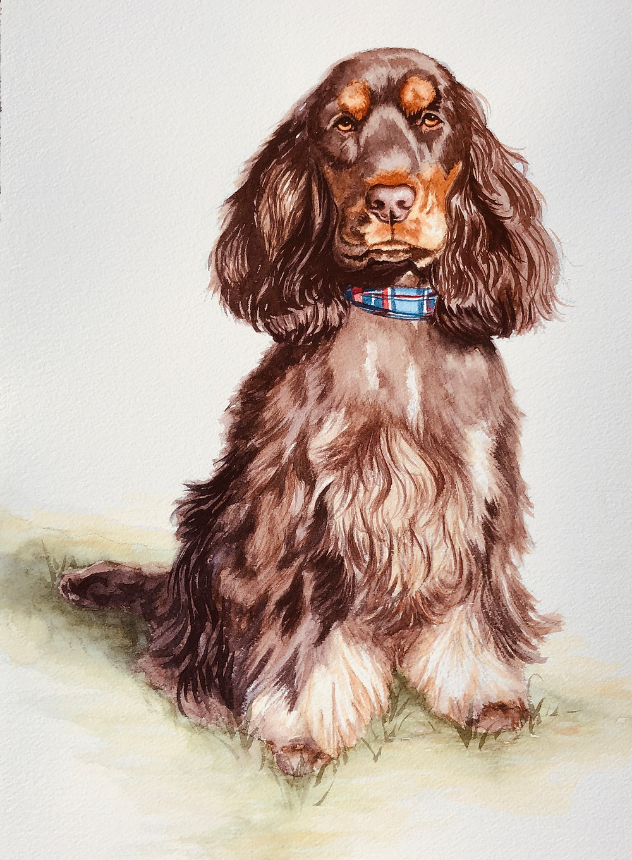 Final watercolor portrait of Hebbe
