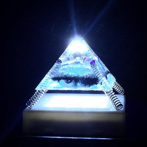 Blue 3rd Eye Amethyst Pyramid