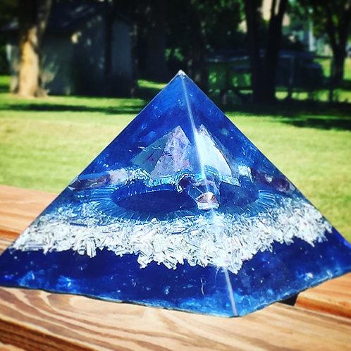Blue Amethyst Pyramid