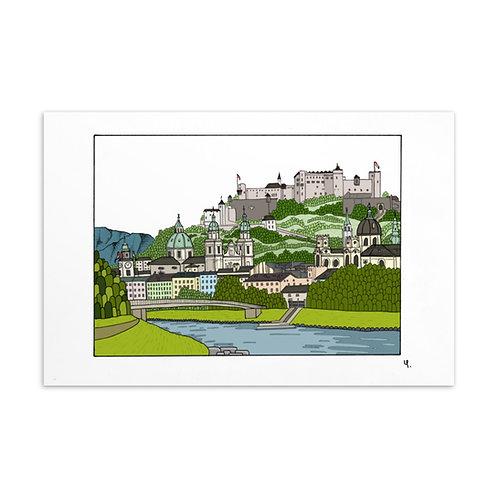 Postkarte Salzburg