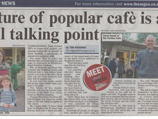 Future of popular cafe' is a real talking point