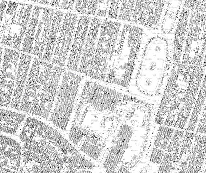 1876 Ordnance Survey Map of Central Brighton
