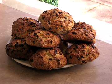 Rockcakes at the Pavilion Gardens Café