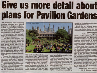 Give us more detail about plans for Pavilion Gardens