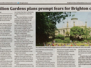 Pavilion Gardens plans prompt fears for Brighton Cafe