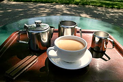 Tea at the Pavilion Gardens Café