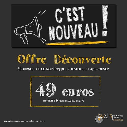 Offre Découverte ValSpace Coworking