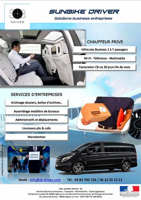 Service aux entreprises et particuliers - SB DRIVER