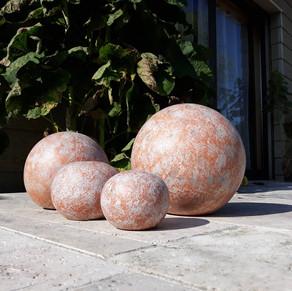 Boules effets granit