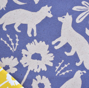 Flora and Fauna of California Fabric