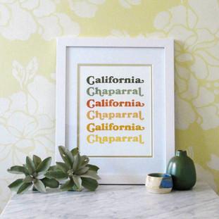California Chaparral Art Print