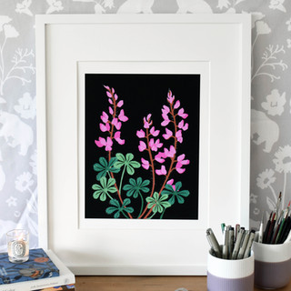 Stinging Lupine Art Print