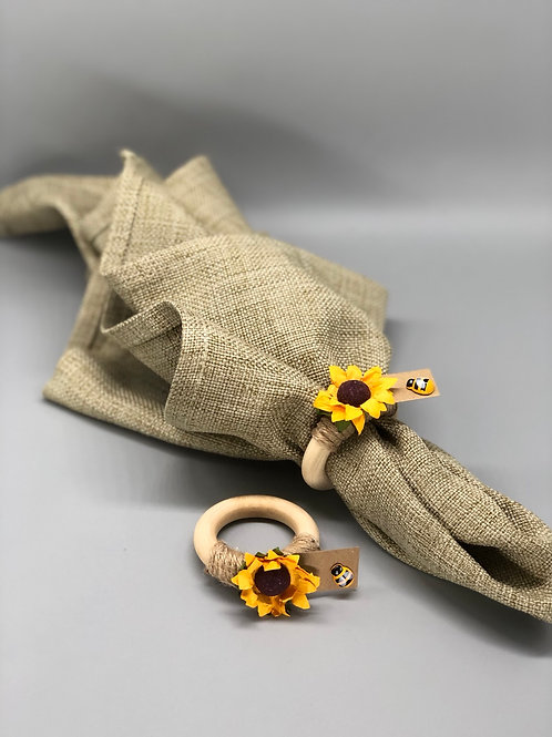 Sunflower napkin rings