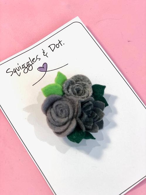 Handmade Floral Pin