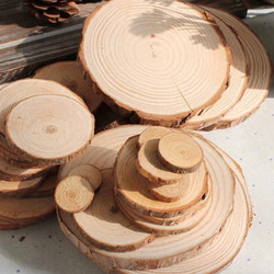 Rustic Wooden Log Slices