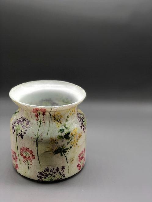 Decoupaged Vase