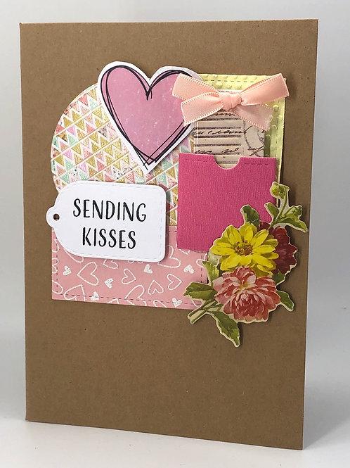 'Sending Kisses' card