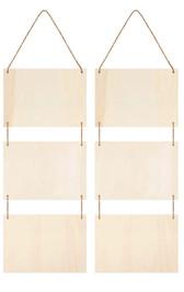 Hanging Wood Plaque (x3)
