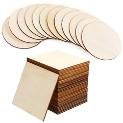 Round or Square Wooden Slices