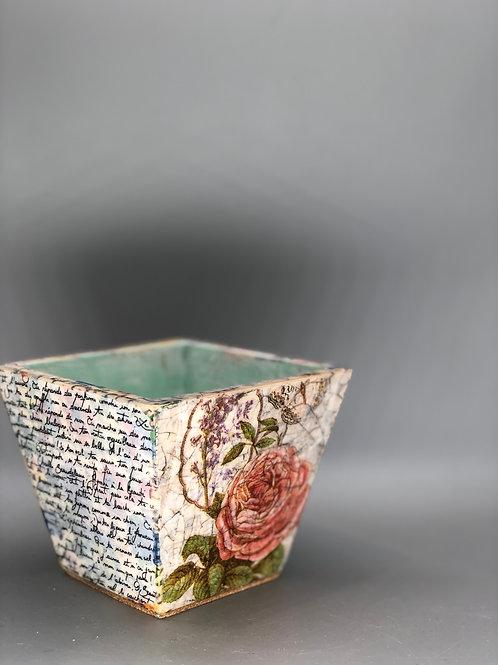 Small Wooden Pot