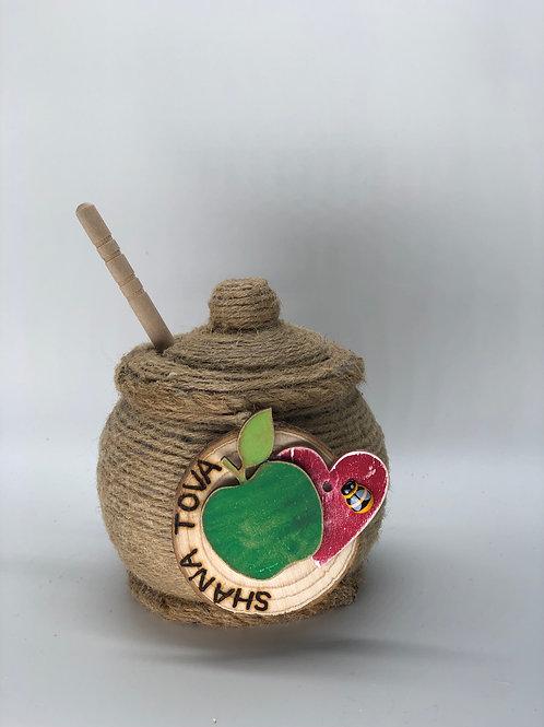 Honey pot & drizzler set
