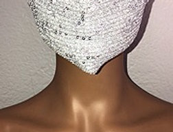 Silver Sparkly Face Mask