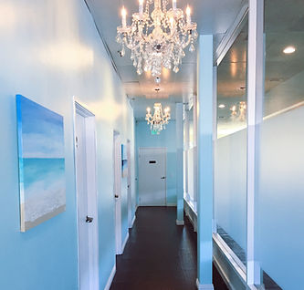 elegant and relaxing hallway at shape & skin medical spa & weight loss
