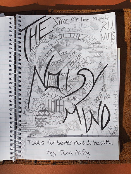 The cover artwork for Tom's book The Noisy Mind