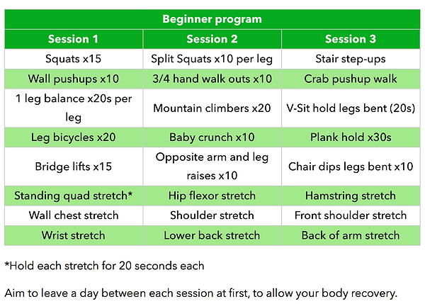 Tom's beginner program