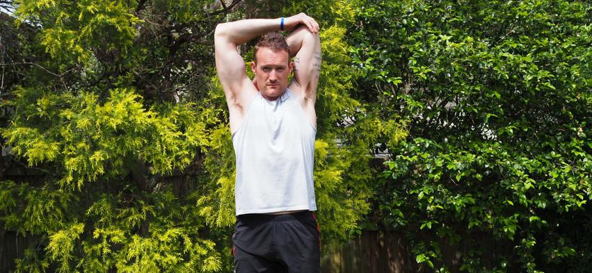 Back of arm stretch