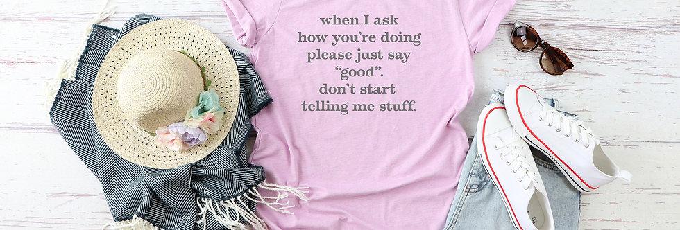 Short Sleeve Funny Tee shirt
