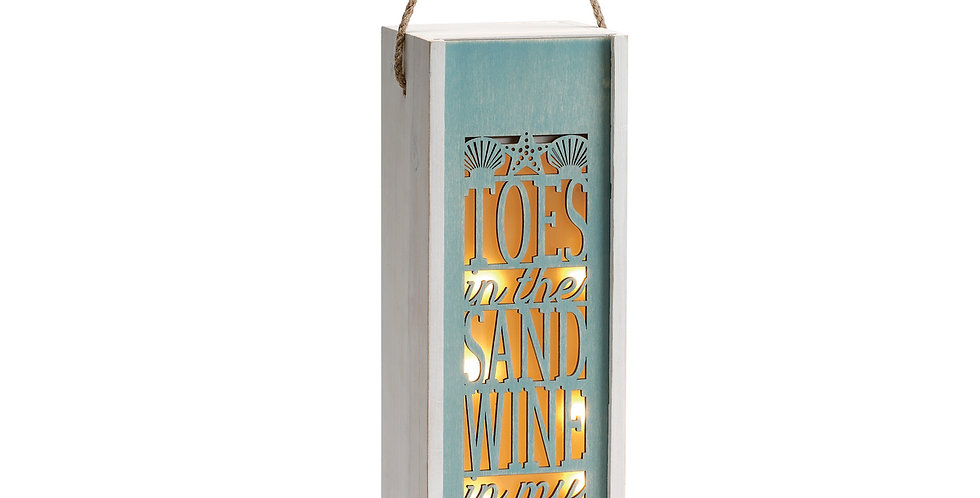 Toes in the Sand Lantern and Gift Box
