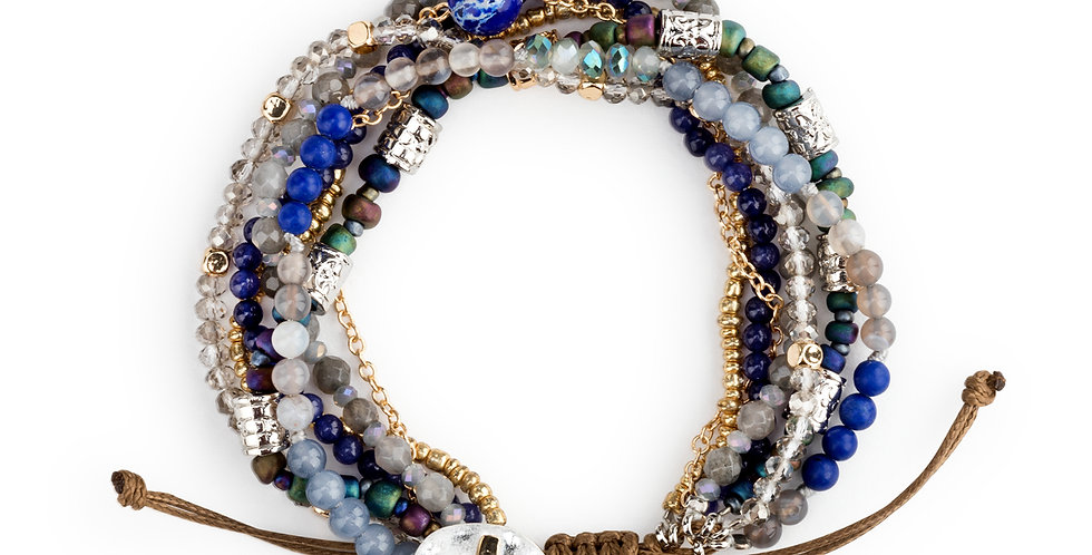 Beaded Love Bracelet - Indigo Back in Stock!