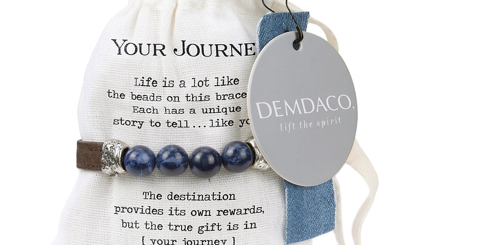 Your Journey Leather Bracelet with Beads