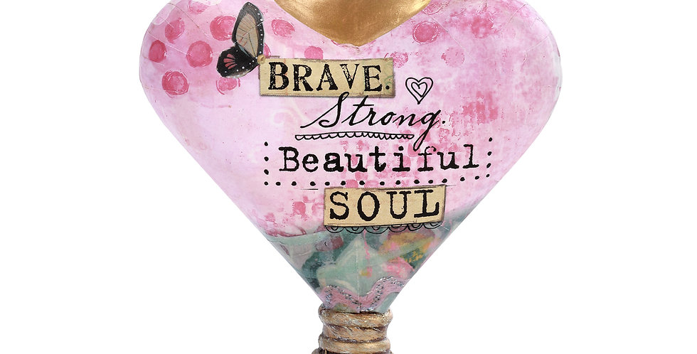 Brave Soul Heart Sculpture