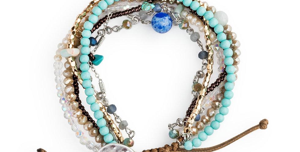 Beaded Love Bracelet - Turquoise
