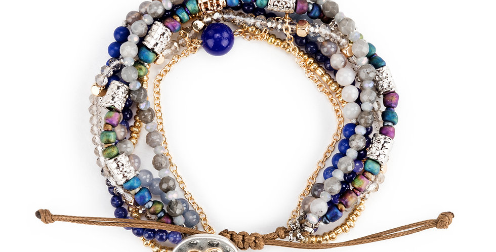Beaded Love Bracelet - Indigo Back in Stock!