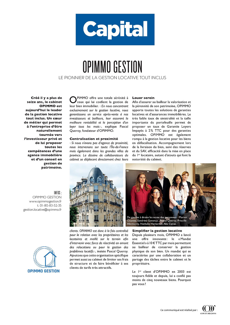 Article Presse Capital - Opimmo Gestion - 16 mai 2020