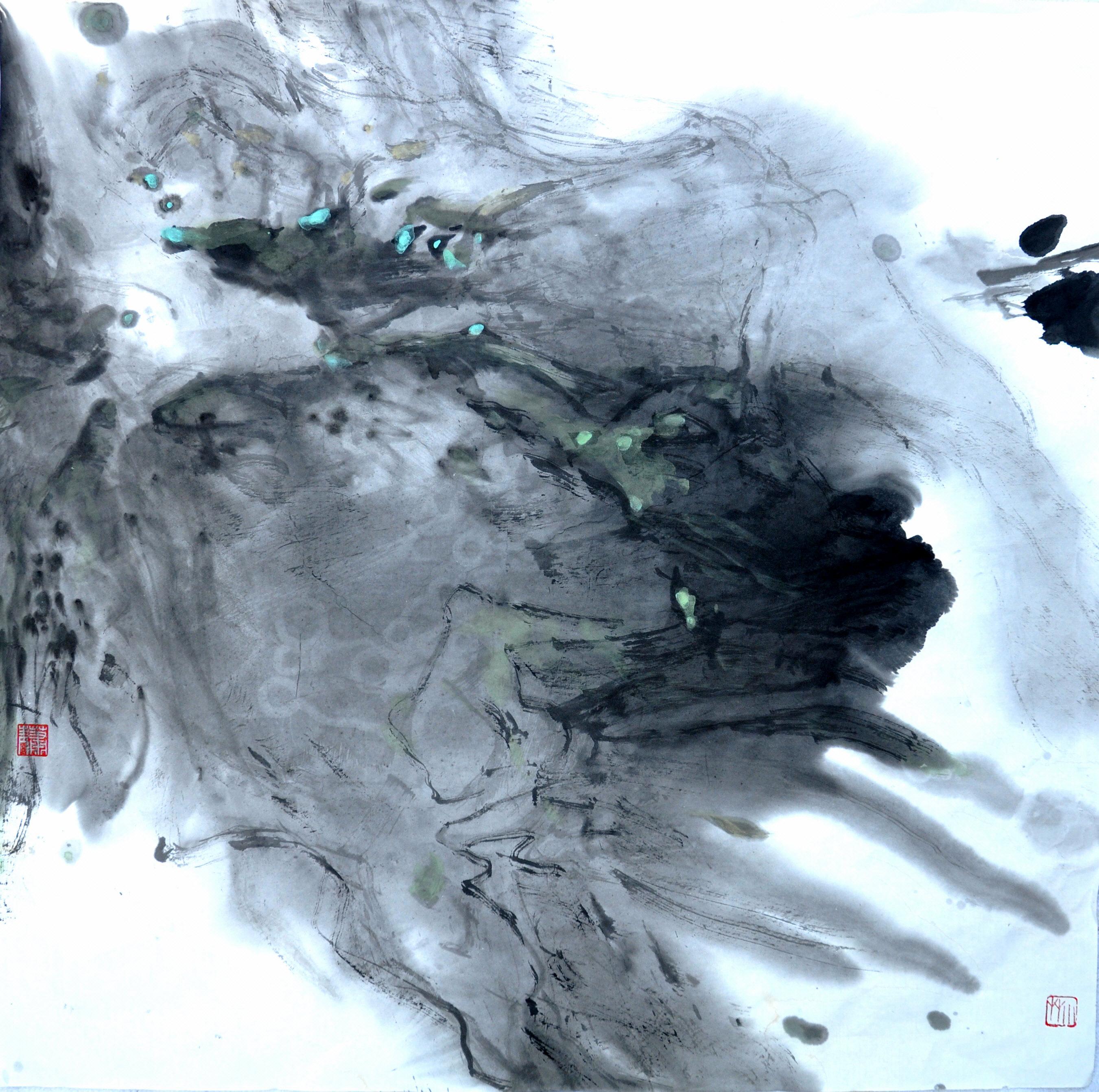 2013  云中景               Scénes  au         nuage   68 x 68
