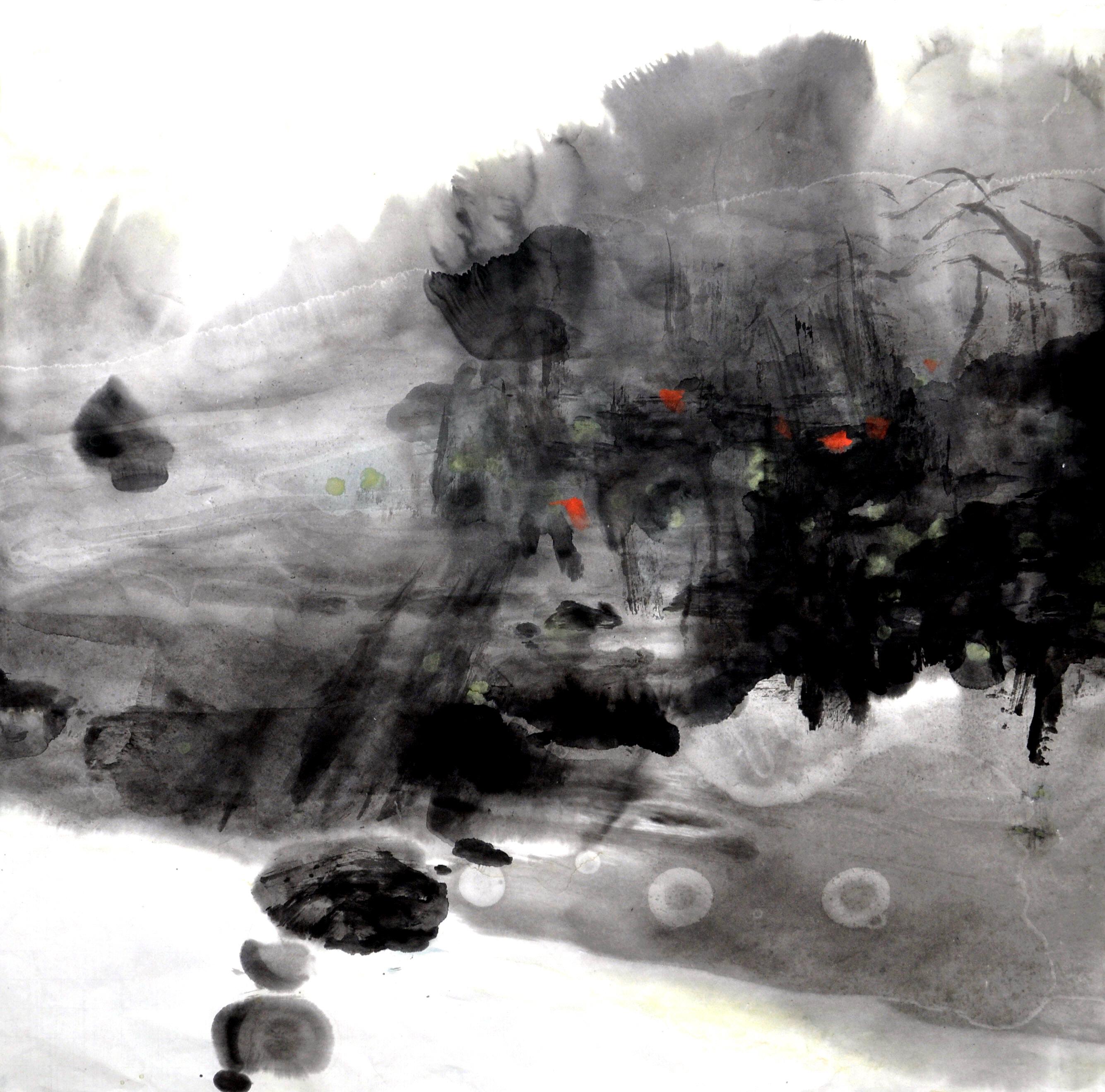 2013 溪边小景              Scéne par                 ruisseau             68 x 68