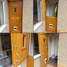 New stable back door and frame fitted for customer, each leaf has a union British standard deadlock fitted, very happy customer