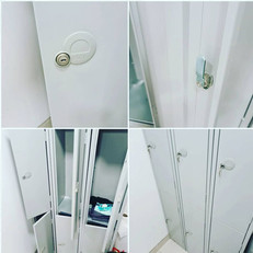 Today we picked open 6 staff lockers that all the keys had been lost for, replaced all cam locks and left ready for staff to store belongings safely
