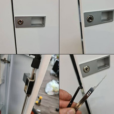 At a customer in Central London today who was moving office and had lost the keys to 4 cabinets and a pedestal drawer set, picked all open