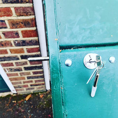 New garage bolts fitted to provide extra security