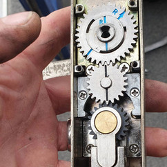 Some repairs to a entrance door, this is inside codelock with euro override and lock facility