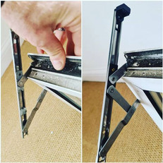 Broken window hinge replaced, we do all repair works to windows including hinges, handles, locking systems (including opening of jammed systems) new glazing units and alignment issues